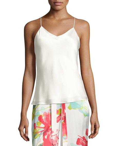 Josie Natori Key Essentials Silk Camisole, White