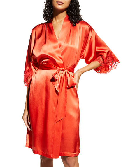 Lise Charmel Splendeur Lace-Trim Silk-Blend Robe and Matching