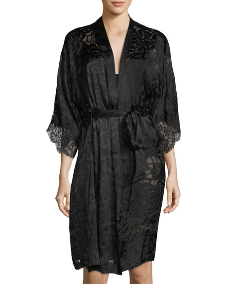 Lise Charmel 3/4-Sleeve Caresse Satin Robe