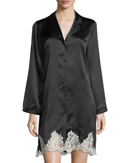 Lise Charmel Splendeur Silky Lace-Hem Robe