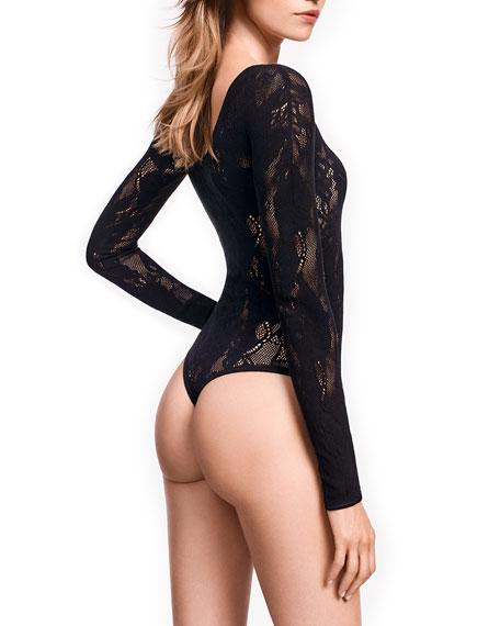 Louise Long-Sleeve Lace Bodysuit