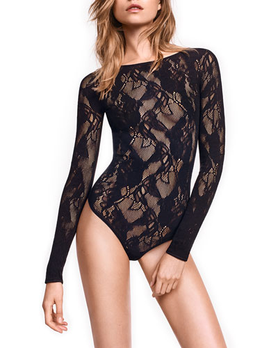 Louise Long-Sleeve Lace Bodysuit
