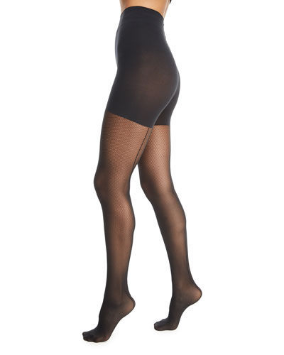 Whitney Control-Top Net Tights
