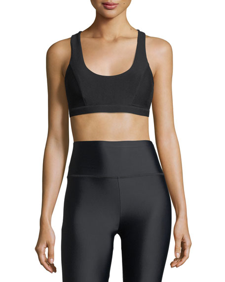 Lanston Regan Cutout Strappy-Back Sports Bra