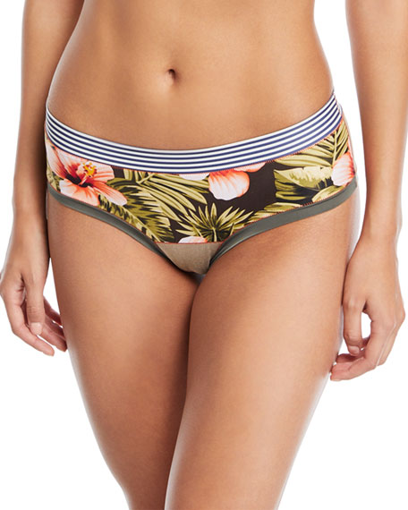 Paloma Floral-Print Bikini Briefs