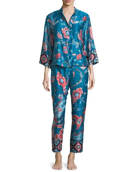 Xanado Paisley-Print Pajama Set