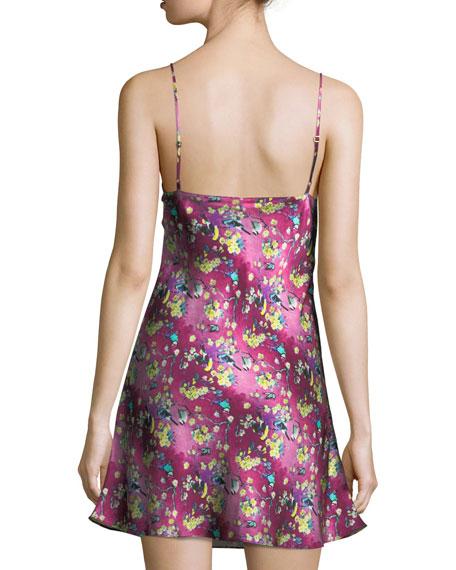 Whimsy Floral-Print Silk Chemise