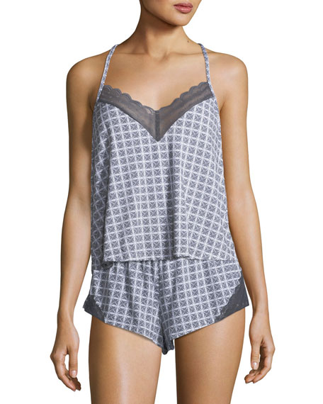 Cosabella Sweet Dreams Geometric-Print Camisole and Matching