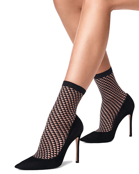 Triangle Net Ankle Socks