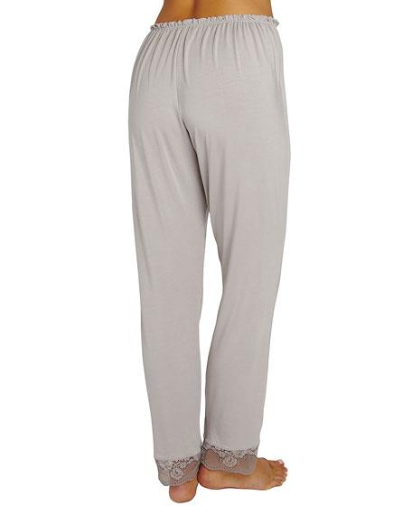 Noor Slim-Leg Lounge Pants, Medium Gray