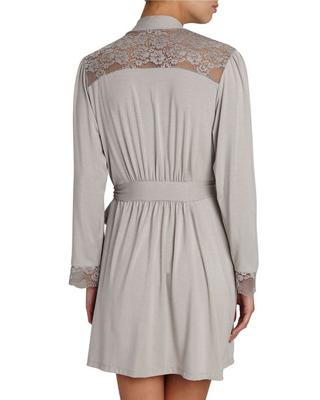Noor Lace-Inset Robe