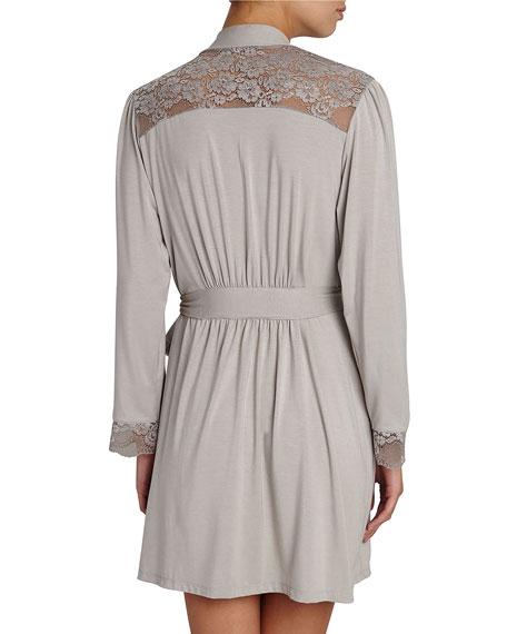 Noor Lace-Inset Robe