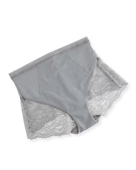 Lace-Inset High-Waist Briefs