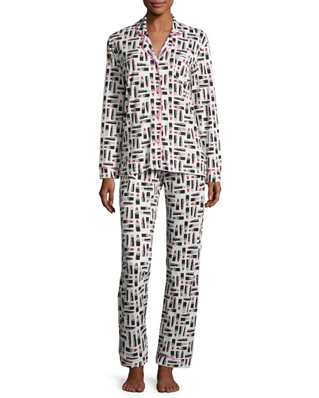 Cosabella Bella Dot-Print Long-Sleeve Pajama Set