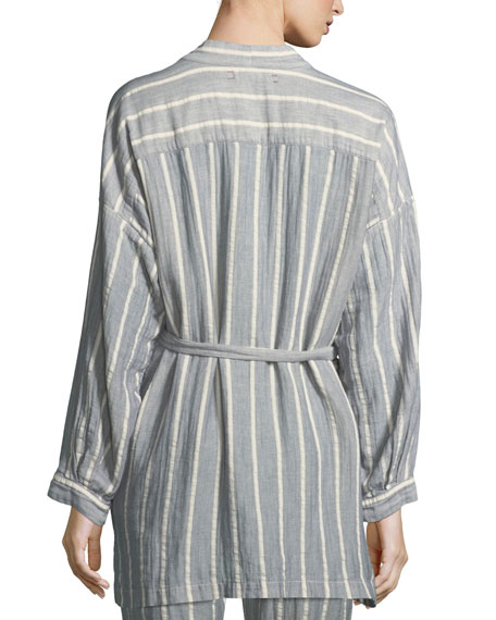 Ryder Striped Cotton Robe