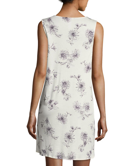 Camille Floral-Print Tank Nightgown