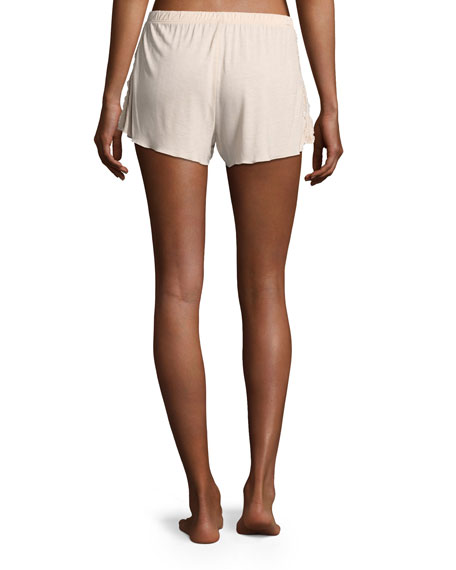 Jessie Lace-Inset Lounge Shorts