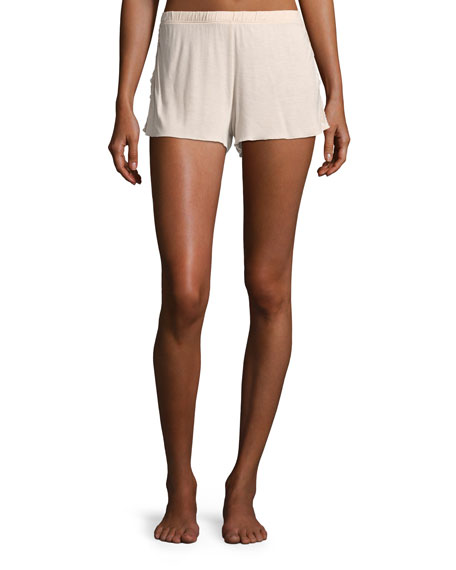 Skin Jessie Lace-Inset Lounge Shorts