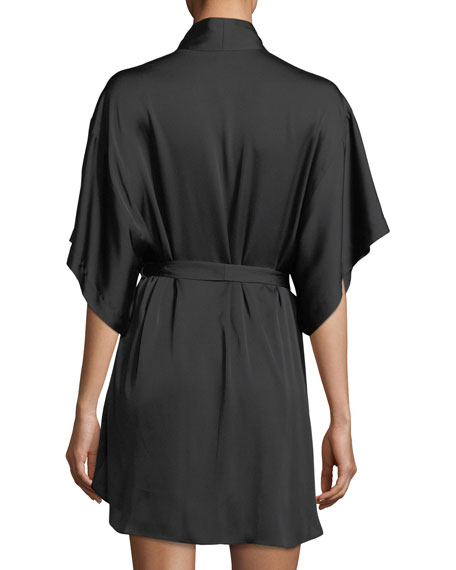 Alyssa Embroidered Short-Sleeve Robe