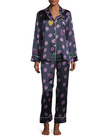 Olivia Von Halle Lila Wendy Long Pajama Set
