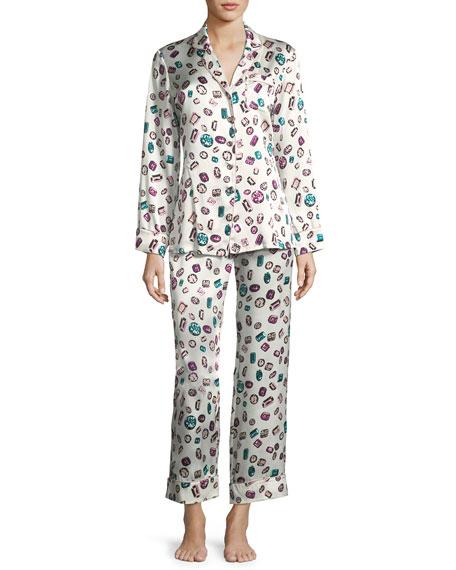 Lila Yolanda Long Silk Pajama Set