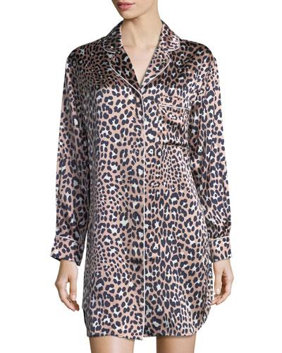Poppy Raelyn Leopard-Print Sleepshirt