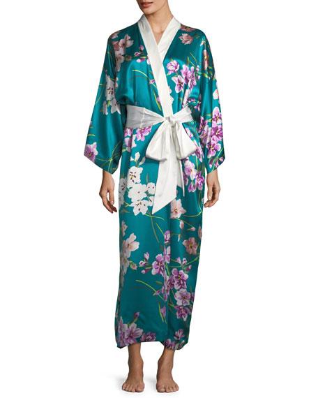 Queenie Barbara Long Silk Robe