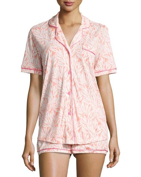 Bella Palm Leaf-Print Short Pajama Set