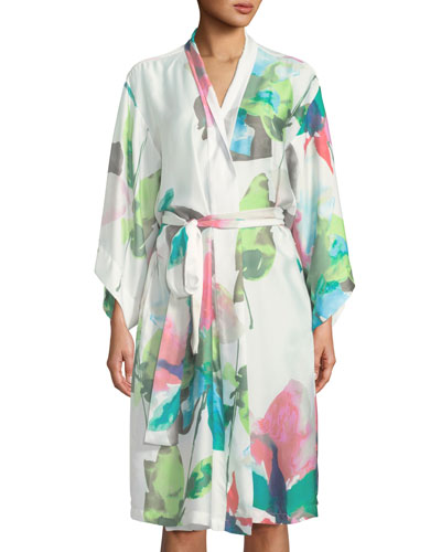 Water Lily Satin Robe