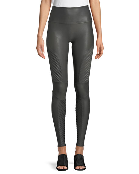 Spanx Moto Faux-Leather Leggings