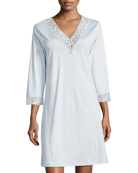 Hanro Moments Lace-Trim Sleepshirt
