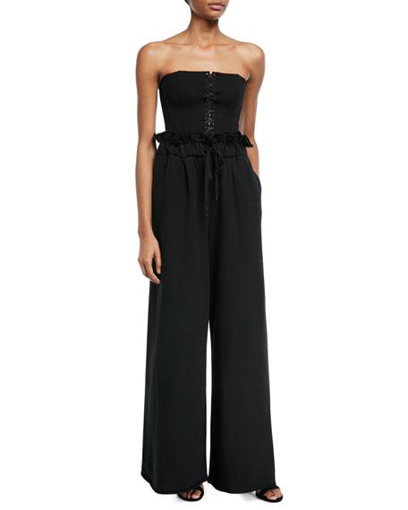 Lace-Front Bustier Bodysuit