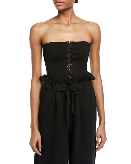 Kendall + Kylie Lace-Front Bustier Bodysuit