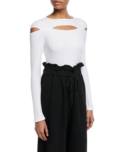 Peek-a-Boo Long-Sleeve Bodysuit