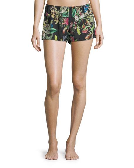 Fleurs De Jungle Lounge Shorts