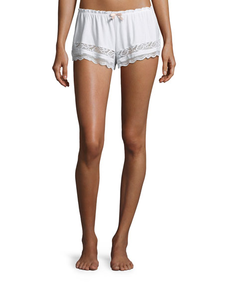 Eberjey Anouk Lace-Trim Lounge Shorts