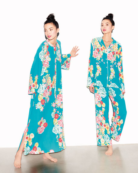 Saipan Satin Long Pajama Set