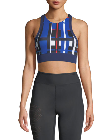 PE Nation Stop Start Crop Sports Bra