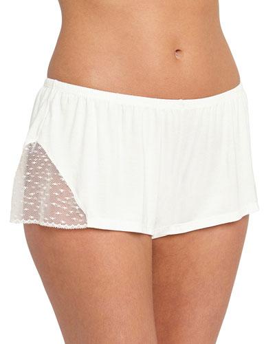 Greta Lace-Inset Lounge Shorts