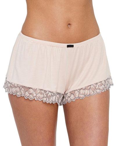 Rosario Lace-Trim Lounge Shorts