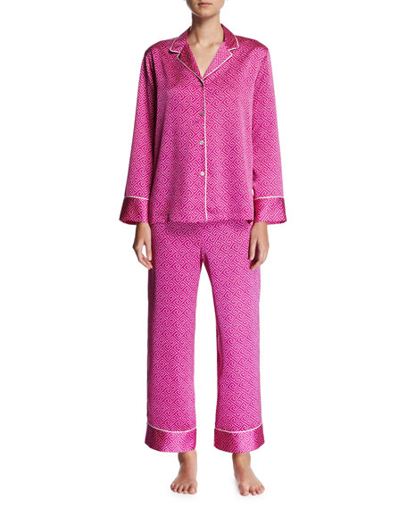 Natori Labrinth Satin Pajama Set