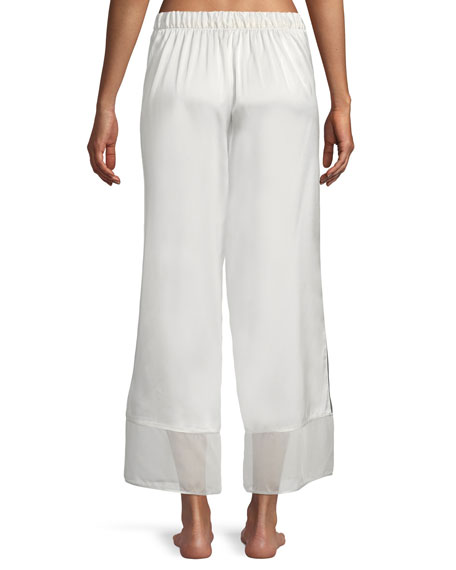 Sleek Silk-Blend Lounge Pants