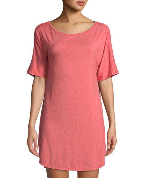 Feathers Short-Sleeve Sleep Shirt