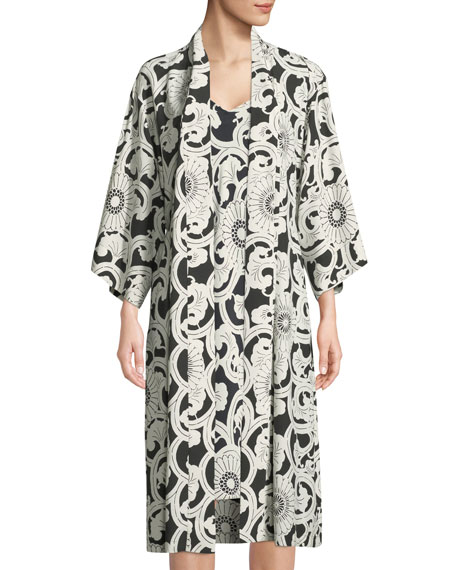 Silk Road Graphic-Print Nightgown