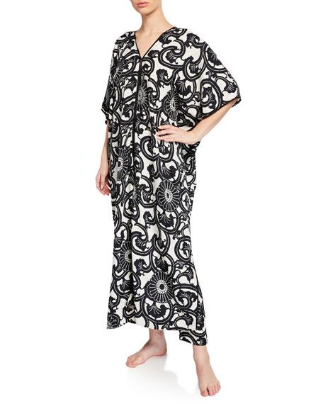 Natori Silk Road Graphic-Print Nightgown and Matching Items
