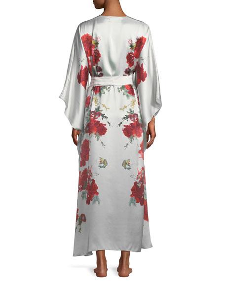 Rose V-Neck Wrap Robe