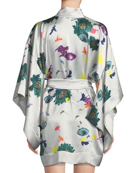 Floral Short Kimono Robe