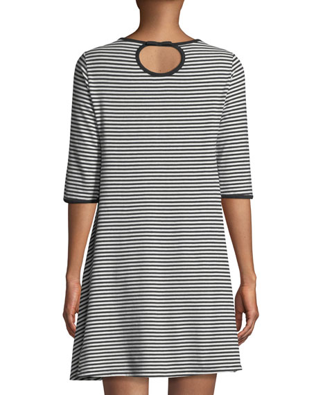 spring striped sleepshirt