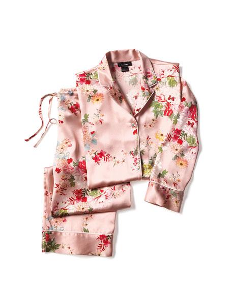 Perennial Notch Silk Pajama Set
