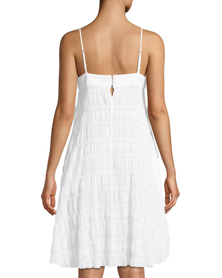 Naomi Gauze Cotton-Stretch Nightgown
